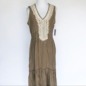 Gorg Boho NY Collection Dress Maxi Crochet Trim